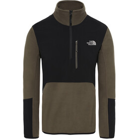 The North Face Glacier Pro 1/4 Cremallera Chaqueta Hombre, new taupe green/TNF black